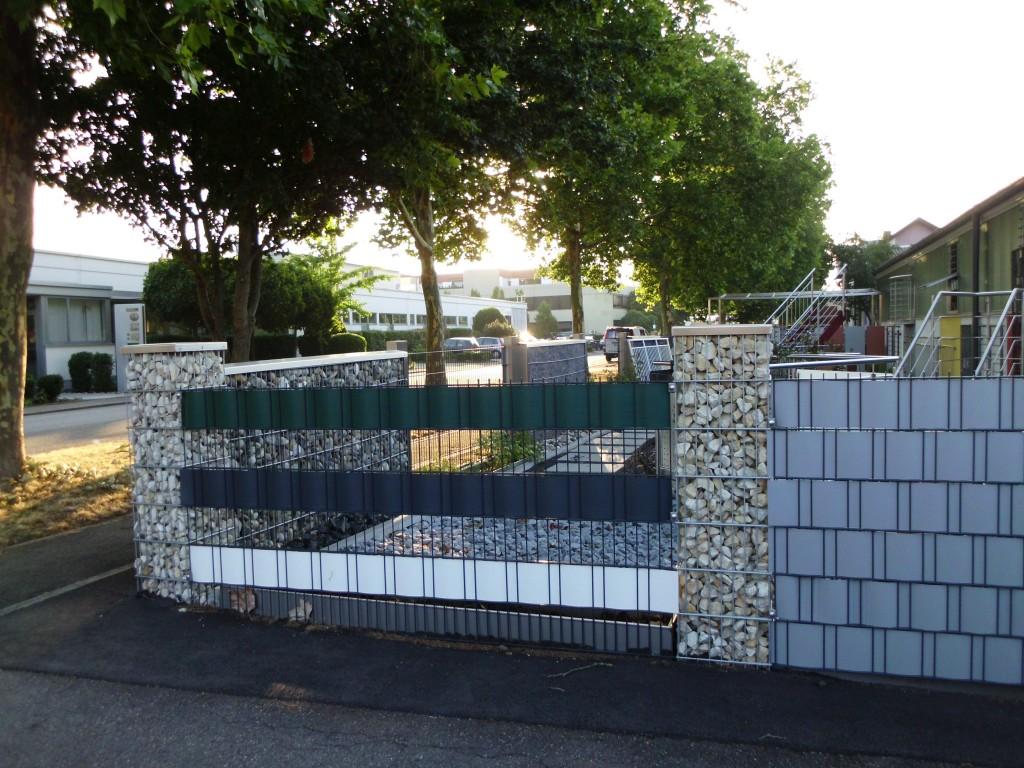 Doppelstabmatten mit PVC-Sichtschutz